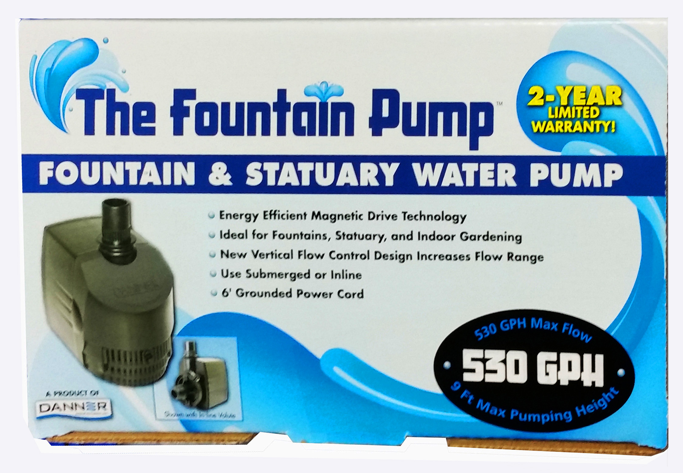 The Fountain Pump By Danner Manufacturing Inc 530gph