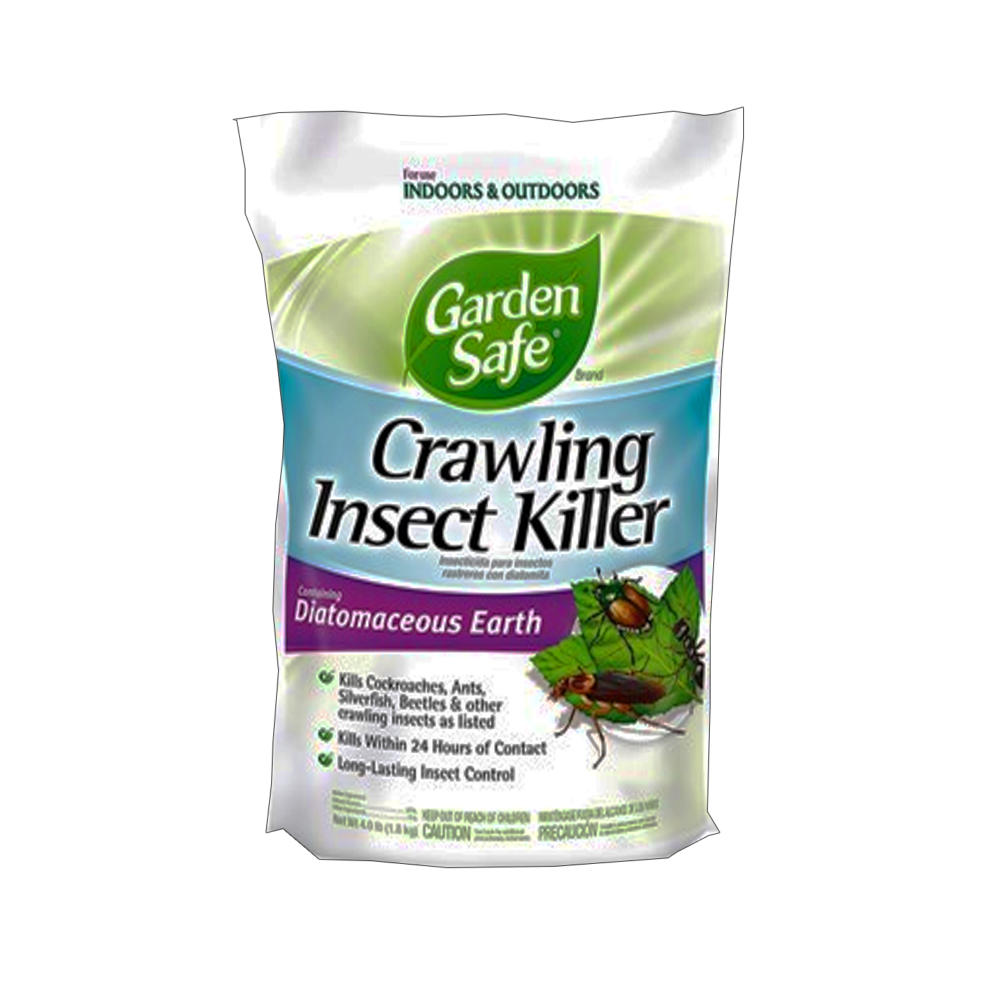 garden safe crawling insect killer containing diatomaceous earth 4lb. Black Bedroom Furniture Sets. Home Design Ideas