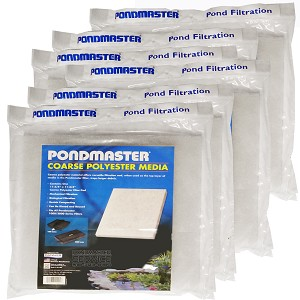 FILTER PAD COARSE-POLY for PMK FILTER KITS 1250 - 4400 - Case of 6