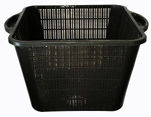 HAGAN - Square Pond-Plant Basket 11.8in x 11.8in x 8.1in