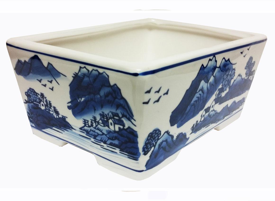 "LOTUS - 8"" Porcelain Bonsai Pot Rectangle"