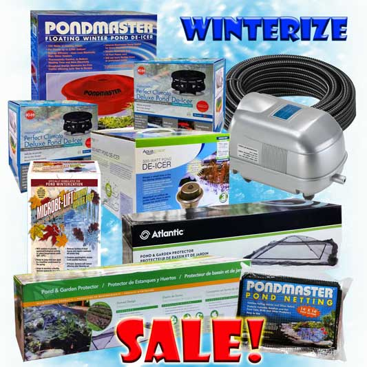 WINTERIZE YOUR POND