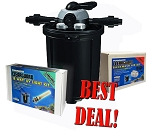 Pondmaster CLEARGUARD Pressurized Filter 5500 w/18 WATT UV & BACKWASH AIR KIT