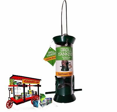 Droll Yankee 8 inch GREEN Sunflower/Mix seed feeder