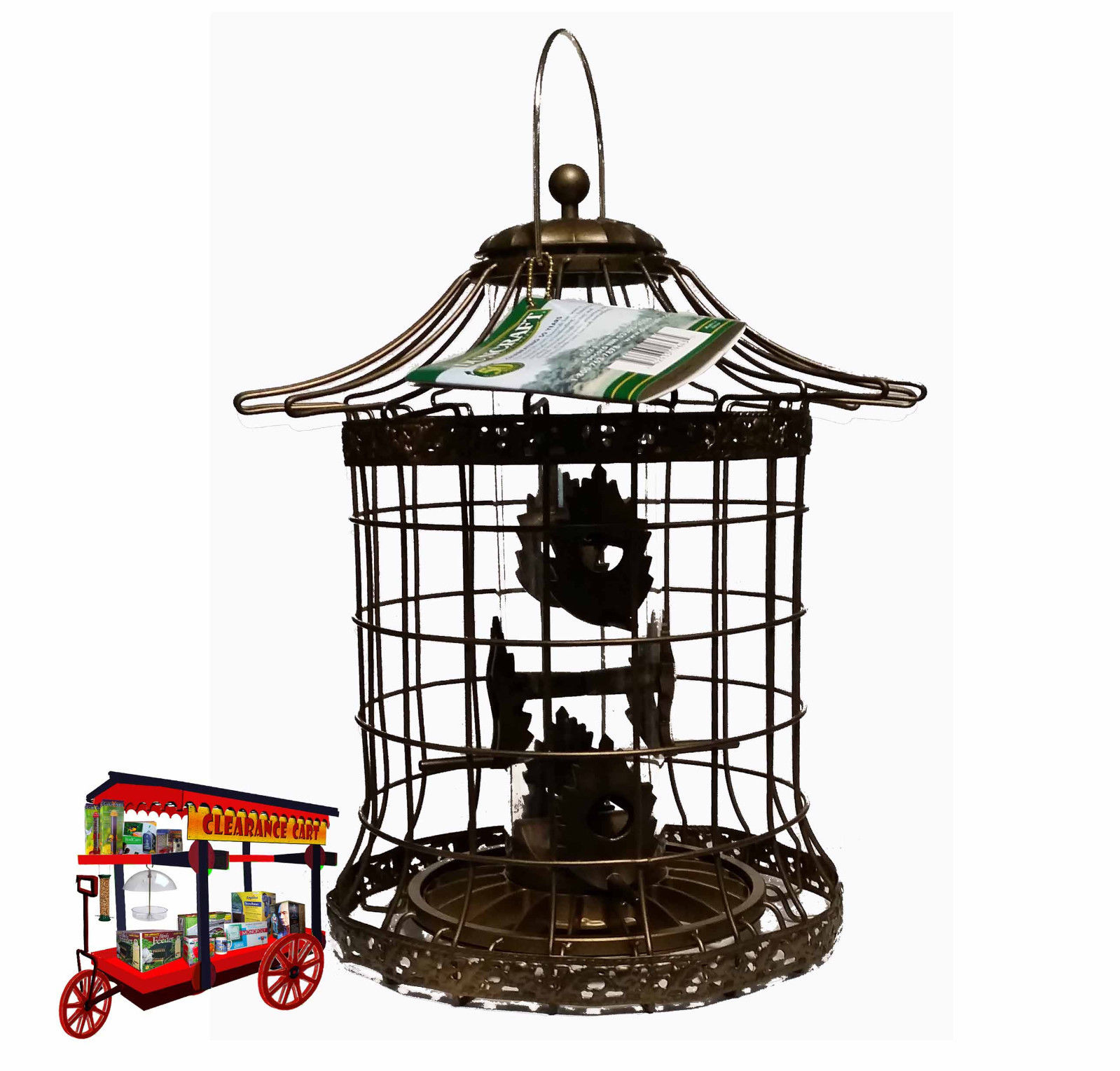 DUNCRAFT 'PAGODA' STYLE CAGED TUBE FEEDER