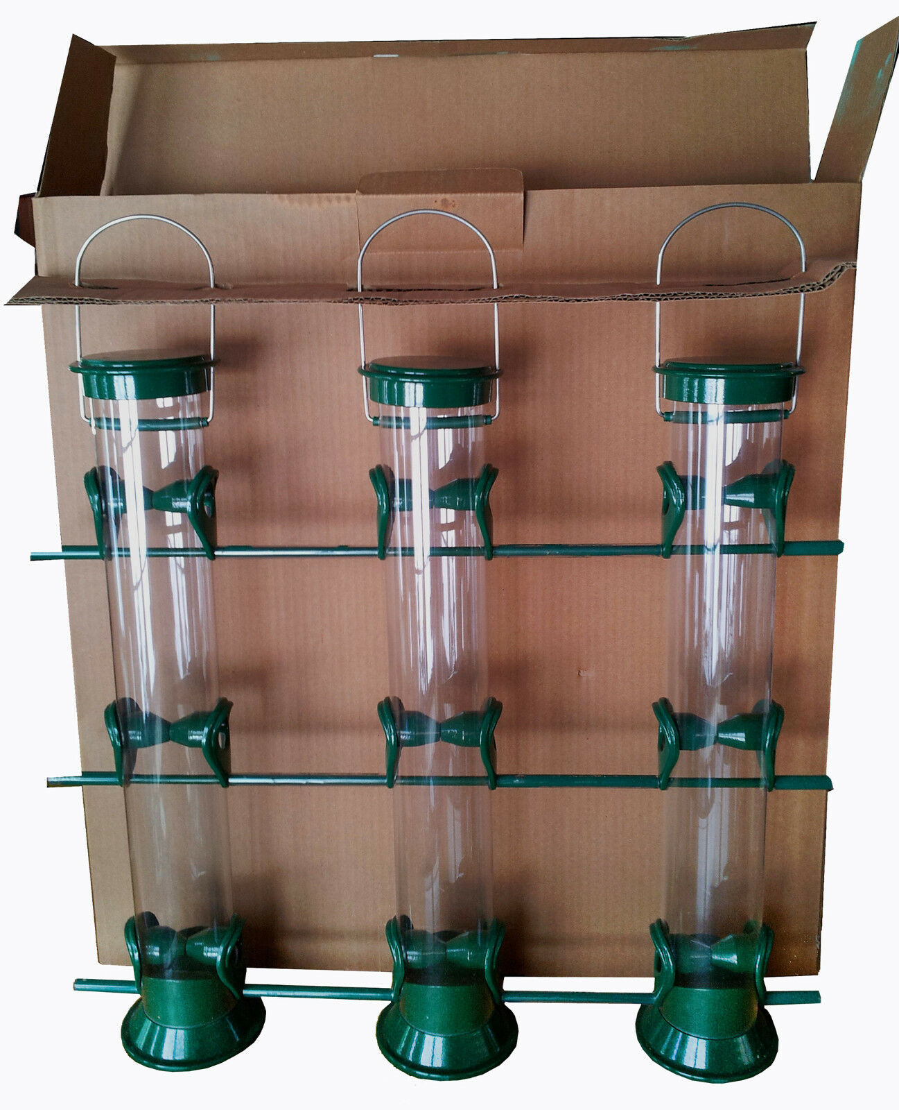 TRIPLE-TUBE HORIZONTAL SUNFLOWER / MIX SEED FEEDER