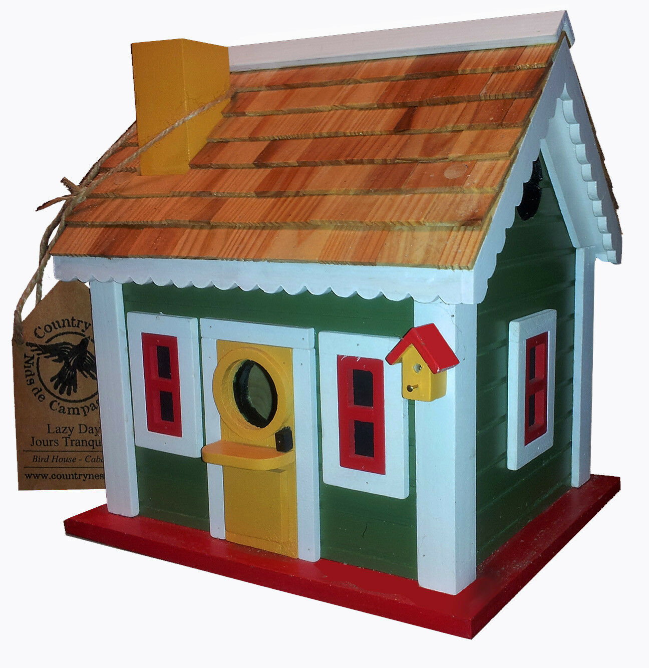 COUNTRY NEST - LAZY DAYS Decorative Painted Birdhouse