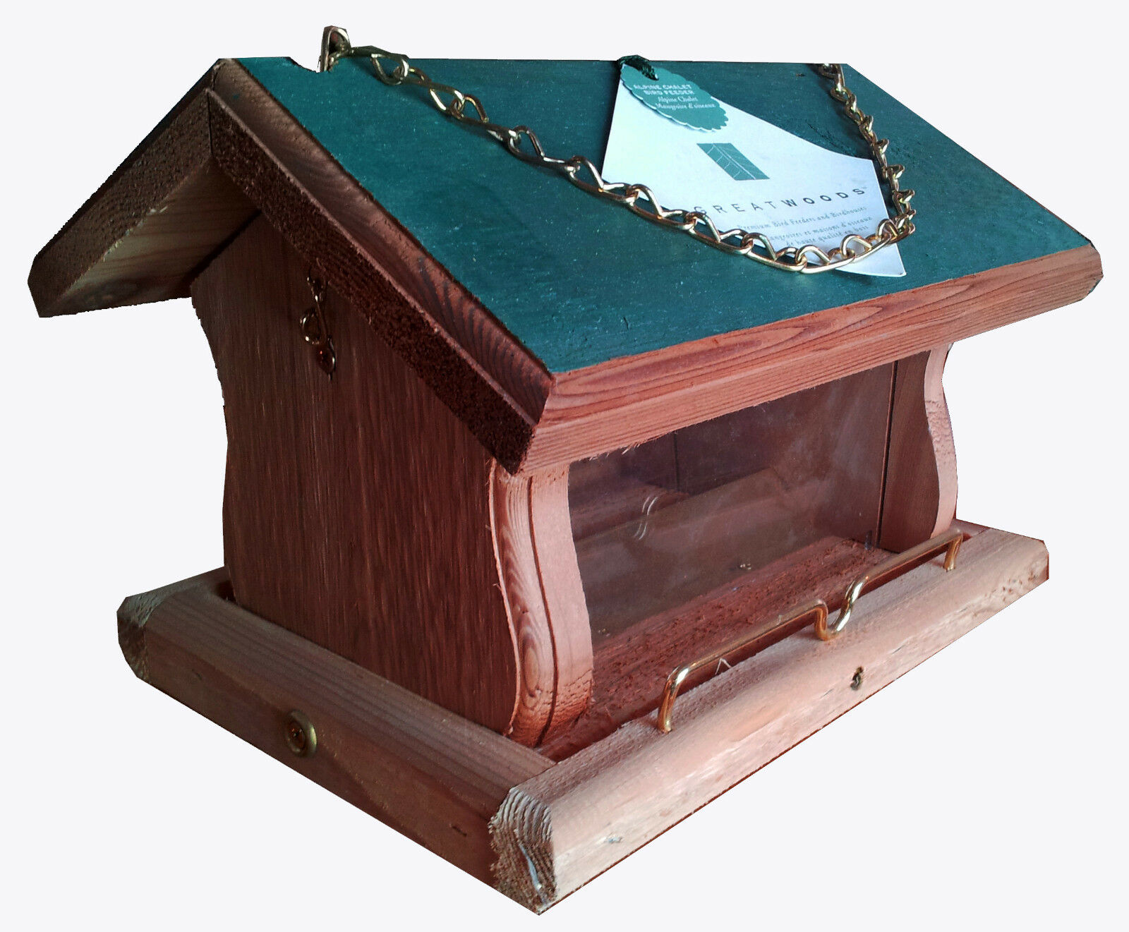 GREATWOODS - ALPINE CHALET BIRD FEEDER