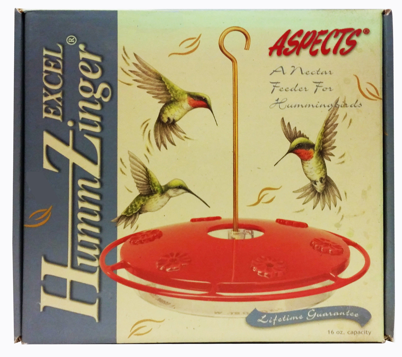 ASPECTS EXCEL - 'HUMM-ZINGER' HUMMINGBRD FEEDER w/ continuous perch