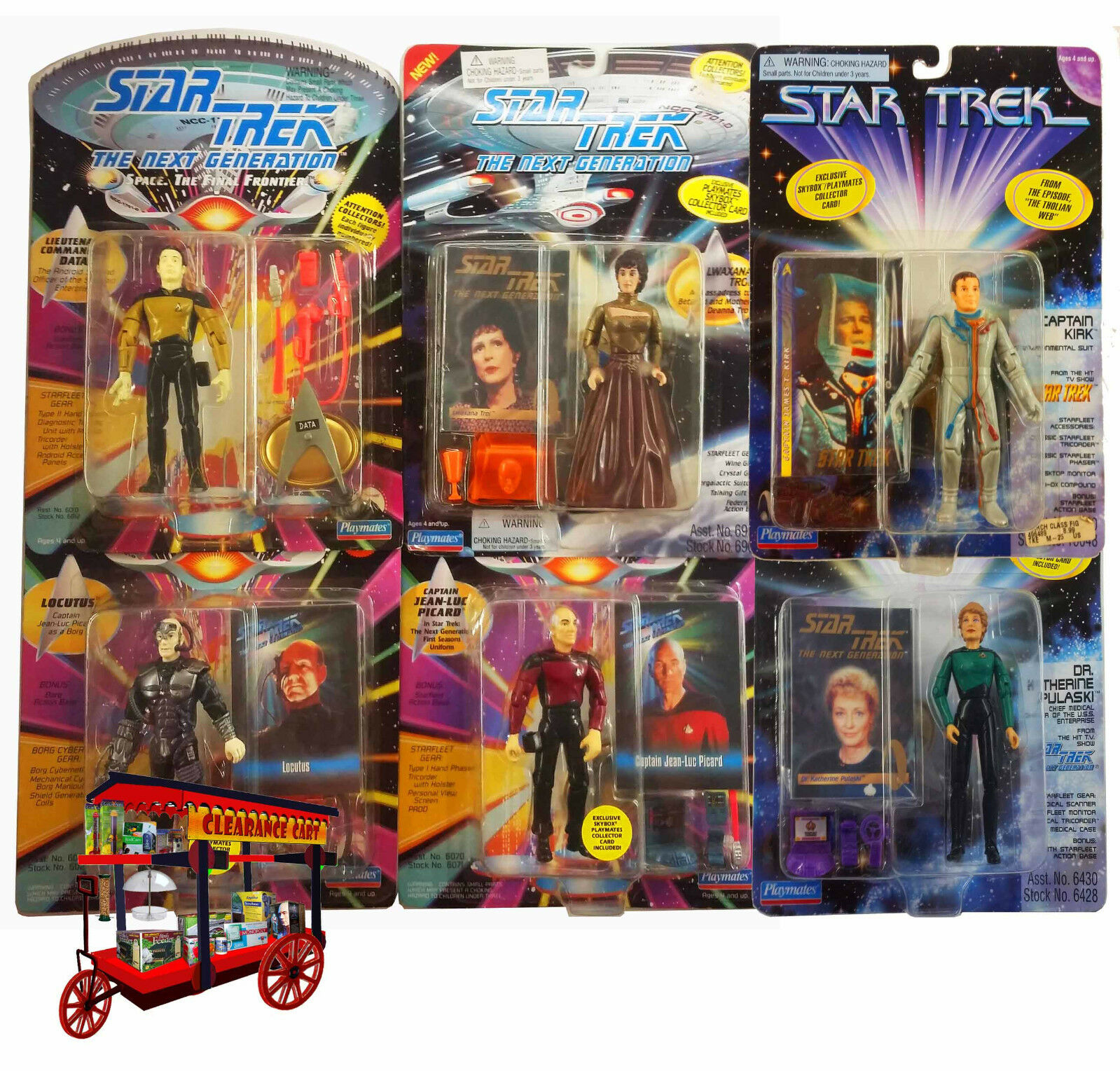 Action Figures STAR TREK Collection of 6