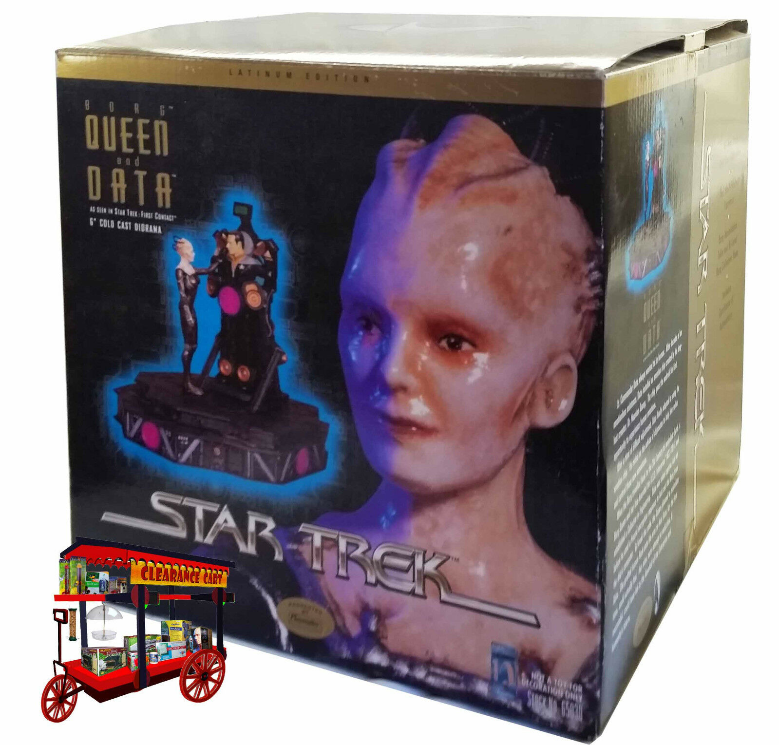 Star Trek BORG QUEEN & DATA Latinum Edition Cold Cast Statue