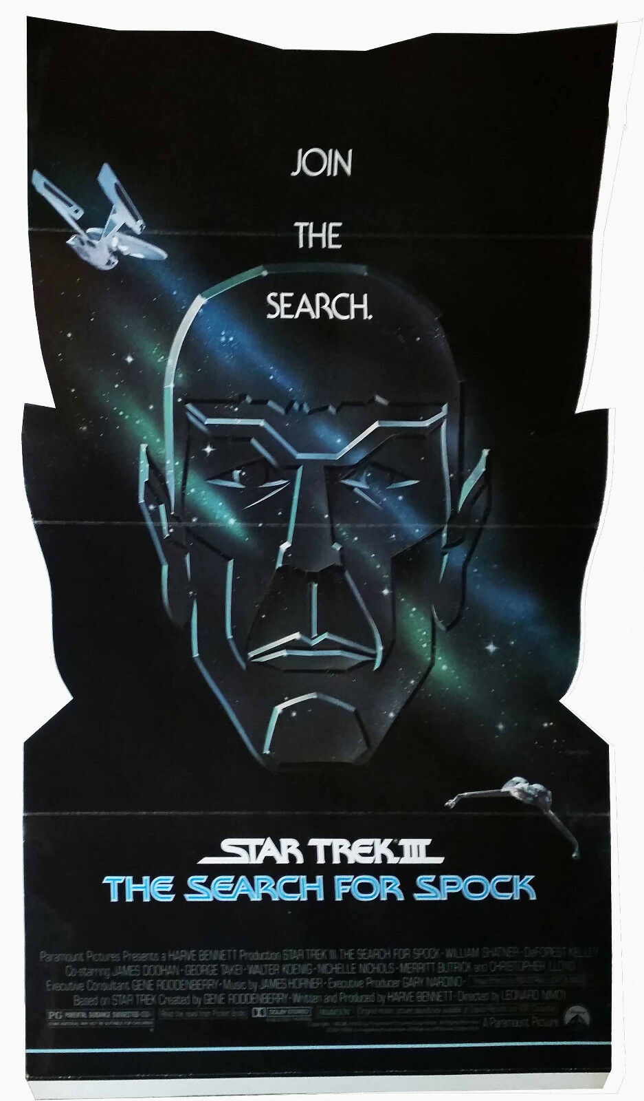 STAR TREK : THE SEARCH FOR SPOCK - CARDBOARD LOBBY STANDEE'