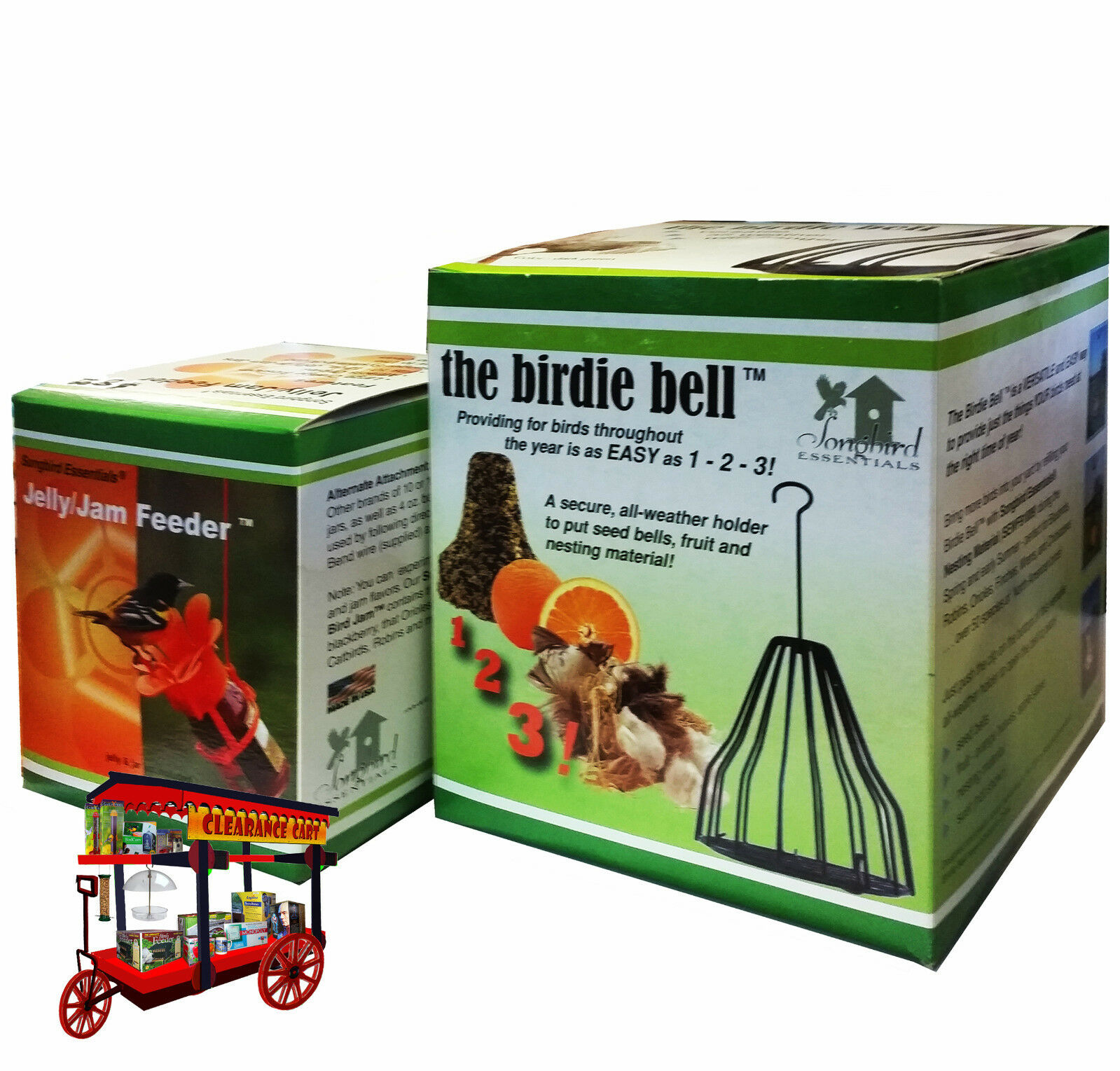 Birdie Bell & Jelly Jar Feeder Combo
