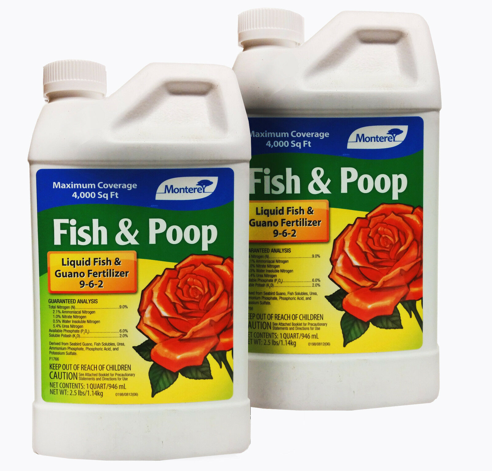 FISH & POOP - Natural Plant Nutrient (2-1 Quart bottles)