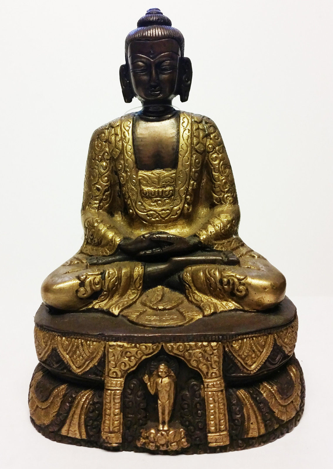 Mixed Metals Buddha Statue 7