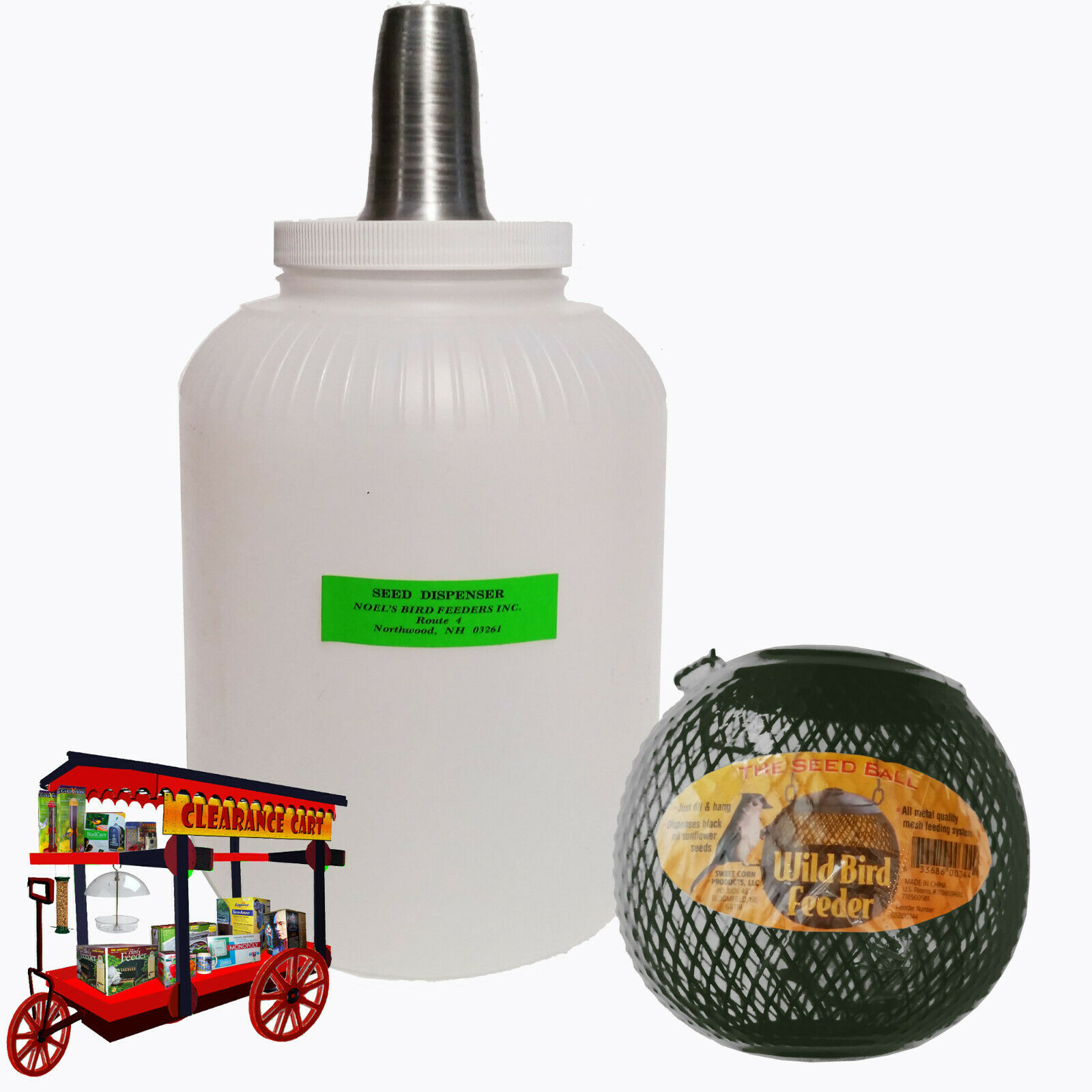 NO NO SEED BALL W/ NOEL'S GALLON SIZE SEED DISPENSER