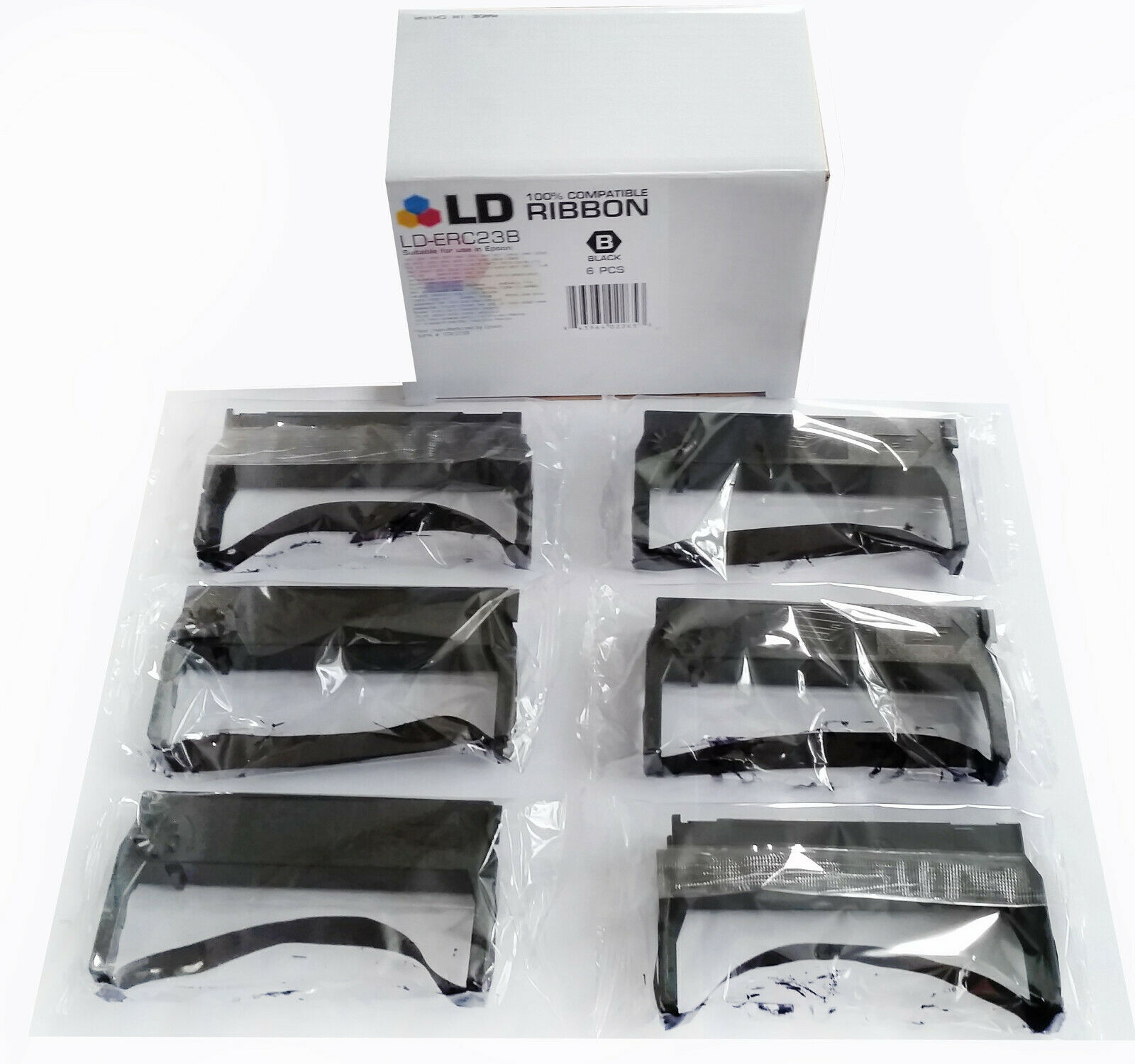 LD-ERC23B - 100% COMPATIBLE ROBBON (6-PACK / BLACK)
