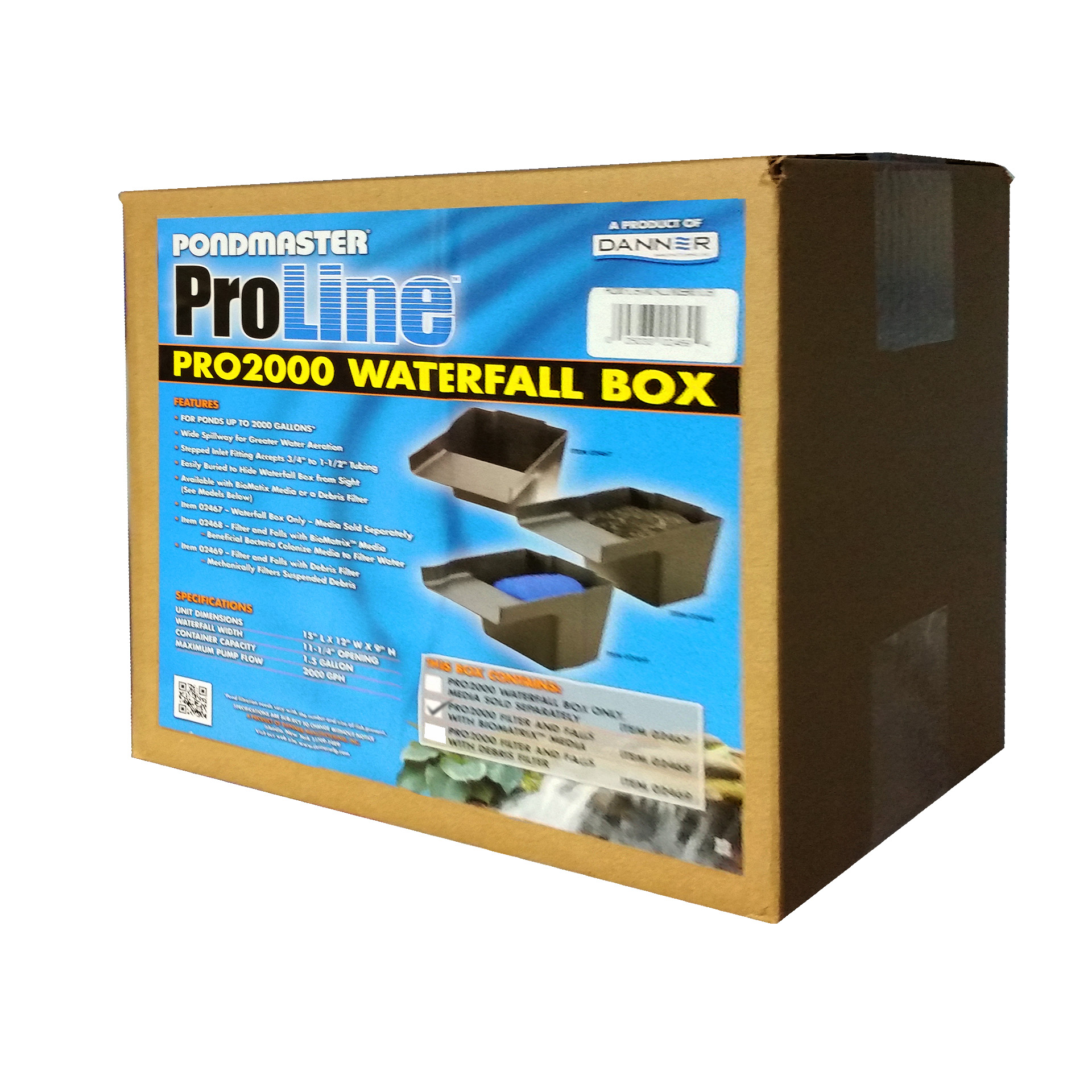 Pondmaster PRO-2000 Filter / Falls with Bio-Matrix Media
